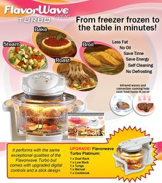 Flavorwave Turbo Oven is a perfect way to cook your favourite ...