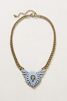 "Mayura Necklace #anthropologieDetails Lobster clasp Acrylic, glass, metal 19""L 2"" pendant Imported Style #: 31334618"