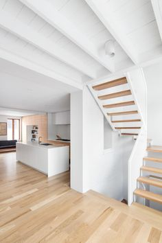 Image 2 of 20 from gallery of Hotel de Ville Residence / Architecture Microclimat. Photograph by Adrien Williams Residence Architecture, Architecture Plan, Interior Architecture, Interior Stairs, Interior And Exterior, New Staircase, Floating Staircase, Home Upgrades, House Extensions