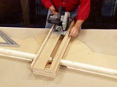 Como fazer uma plataforma de corte transversal para a sua serra circular: How-To: Rede DIY