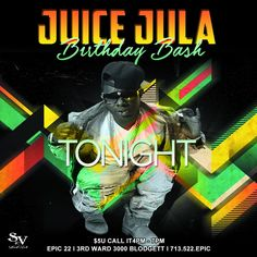 TONIGHT!!! SUNDAY FUNDAY 🇺🇸🇺🇸🇺🇸 HAPPY BIRTHDAY JUICE JULA 🎉🎉🎉 Party with #JUICEJULA #WeAreStreetVibes #Fam Sunday - March 19, 2017 - #streetvibesmusic #JuiceJulaBirthdayBash #RickB #RickBTheBusiness #SkyTheGoddess #JuiceJula #GlashandaLewisB #Houston #Texas #Wearestreetvibes