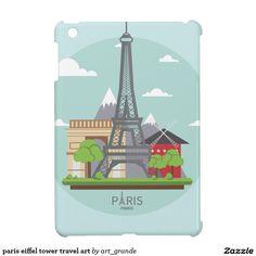 paris eiffel tower travel art iPad mini case