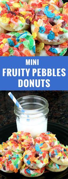 Mini Fruity Pebbles Donuts