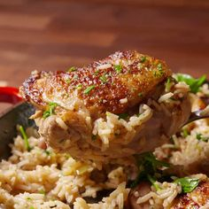Ranch Chicken with rice. Ranch dressing turns up the flavor real quick. Spinach Stuffed Chicken, Chicken Rice, One Pot Meals, Main Meals, Ranch Dressing Chicken, Cooking Tv, Cooking Videos, Ranch Chicken Recipes, Chicken Recepies