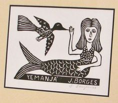 Mermaid Print Framed by J Borges by BeeJayKay on Etsy, $625.00