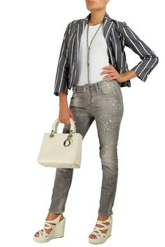 Casual chic with #Dsquared Jacket and Jeans + Lady #Dior bag - #starbags_eu