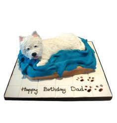 Ok, this is in my top five favorites of the Westie cake designs!