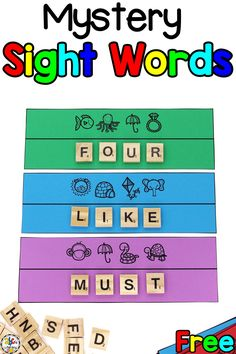 Did you know that April 13th is Scrabble Day? We love to not only play the word game, but we also love to use the Scrabble letter tiles for many of our sight word activities like these Sight Word Secret Code Puzzles. These sight word activity for Kindergarten is not only a fun, hands-on sight word activity for kids but it's a great way for them to work on critical thinking and problem solving skills too. #sightwordactivities #sightwordactivityforkindergarten #athomesightwordactivity #wordwork