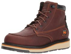 ff718dd956a4 Timberland PRO Mens Gridworks Moc Soft Toe Waterproof Industrial Boot Brown  11 M US