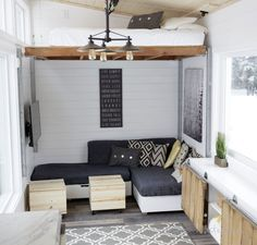 We finished up and delivered our latest tiny house yestereday. It is an open concept rustic modern beauty that looks simple, but does all sorts of things. Have you had a chance to watch the video tour