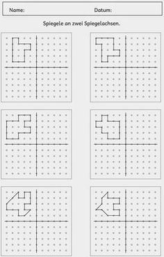Lernstübchen: Stationsarbeit Flächeninhalt (4) Symmetry Activities, Visual Perception Activities, Autism Activities, Therapy Activities, Kindergarten Activities, Kids Education, Special Education, Math Logic Games, Free Printable Puzzles