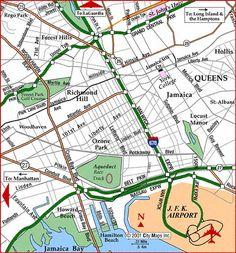 New York City Airports Transportation Map | MAPS | Pinterest ...