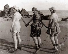 riské -- vintage babes on a beach.