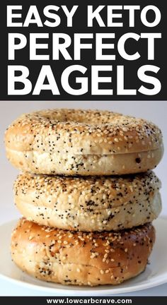VISIT FOR MORE Easy Homemade Keto Bagels Recipe (Low Carb, Gluten-Free & Sugar-Free). Made with the best fathead dough recipe, topped with everything but the bagel seasoning or sesame seeds. These are the best homemade breakfast keto bagels! Keto Bagels, Low Carb Bagels, Low Carb Keto, 7 Keto, Vegan Keto, Gluten Free Bagels, Keto Donuts, Keto Meal, Homemade Breakfast