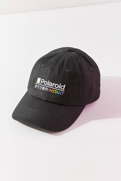 72a92bfb73770 Polaroid Baseball Hat | Urban Outfitters 6 Panel Cap, Dad Hats, Snapback,  Urban
