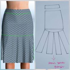 Outstanding 100 sewing projects tips are offered on our website. Read more and you wont be sorry you Skirt Patterns Sewing, Clothing Patterns, Pattern Skirt, Skirt Sewing, Clothing Ideas, Sewing Clothes, Diy Clothes, Fashion Sewing, Moda Fashion