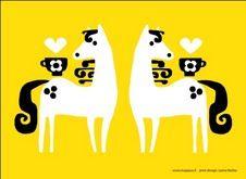 Juliste A4 Hepat Keltainen. Julisteen valmistaja: Majapuu design / Printin suunnittelu: Leena Renko.