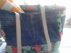 trabajo mio canasta de picnic jean reciclado