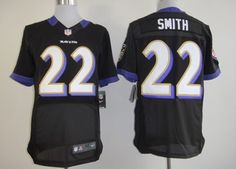 Nike Baltimore Ravens #22 Jimmy Smith Black Elite Jersey