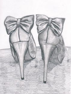 black and white, bow, bows, heels, high heels