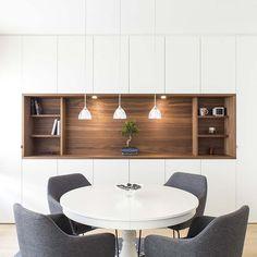 Dining Room Office, Kitchen Dinning Room, Dining Room Buffet, Dining Room Walls, Home Room Design, Kitchen Design, Living Room Built In Cabinets, Home Living Room, Living Room Modern