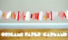 Paper garland + sewing