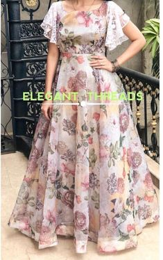 long frocks for kids . long frocks i Long Gown Dress, Lehnga Dress, Frock Dress, Organza Dress, Saree Gown, Chiffon Maxi Dress, Lehenga Designs, Kurta Designs, Blouse Designs