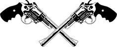 crossed pistol sleeve tattoos - Google Search