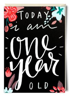 Today I am one year old - Card by Bee Davies