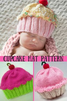 A collection of ways that are different to Crochet Cupcake Beanie Hat with Patterns which are Free. This sweet crochet Crochet Kids Hats, Crochet Cap, Crochet Beanie, Free Crochet, Knitted Hats, Crochet Stitch, Crochet Clothes, Crochet Cupcake, Knitting Patterns