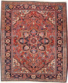 Heriz rug  size approximately 3ft. 11in. x 4ft. 8in.