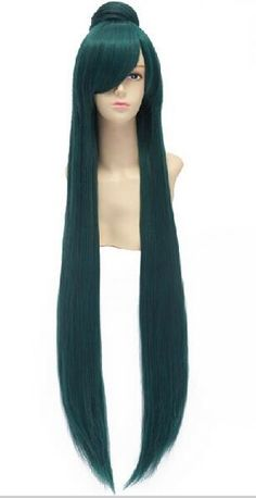 51.30$  Buy now - http://alipbw.worldwells.pw/go.php?t=32776872963 - hot sell new - suyushun3447851++Anime Sailor Moon Sailor Pluto Meiou Setsuna 100cm Long Straight Green Perucas Cosplay Wig 42% 51.30$