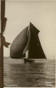 e. 1900s Yacht. Lang Xmas Card