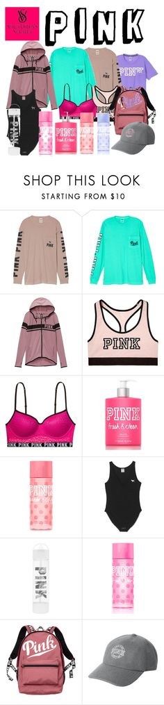 """Victoria's Secret PINK"" by catie-kridler on Polyvore featuring Victoria's Secret, Victoria's Secret PINK and Pink"
