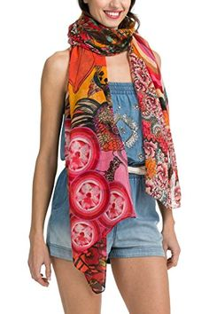 Desigual Calantha - Foulard - Imprimé - Femme - Multicolore (Rojo Country) - Taille unique (Taille fabricant: Taille Unique) Desigual http://www.amazon.fr/dp/B00O9NBV84/ref=cm_sw_r_pi_dp_HCS7vb0V82MXJ
