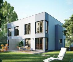 Moderne Flachdach-Stadtvilla im Bauhausstil - Haus ...