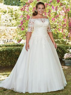 Rebecca Ingram Plus-Size Wedding Dresses in North Dallas Lace Wedding Dress, Maggie Sottero Wedding Dresses, Perfect Wedding Dress, Designer Wedding Dresses, Bridal Dresses, Dresses Dresses, Wedding Gown Gallery, Plus Size Wedding Gowns, Curvy Bride