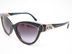 b0df950d370 Bvlgari BV 8156B 5352 8G Black   Beige Sunglasses