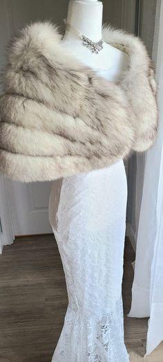 Winter Wedding Fur, Winter Bride, Vintage Fur, Vintage Bridal, Bridal Jackets, Great Gatsby Party, Bridal Bolero, Fur Wrap, Fur Stole