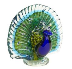 Peacock glass decor from Pier 1.