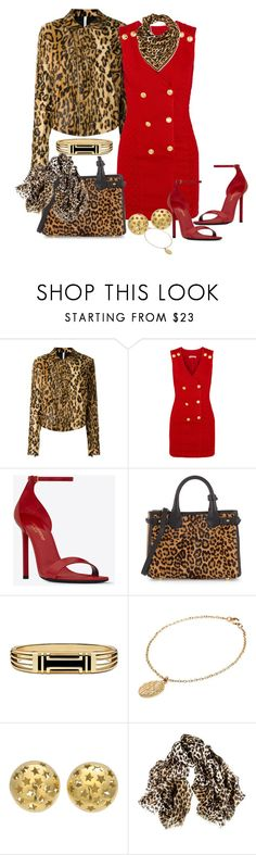 """Animal Attraction"" by onesweetthing ❤ liked on Polyvore featuring Alcoolique, Pierre Balmain, Yves Saint Laurent, Burberry, Tory Burch, CINDERELA B, Black and Leonard"