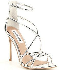 Steve Madden Satire Metallic Strappy Dress Sandals