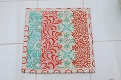 how to sew quilted potholder