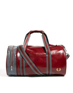 Fred Perry Classic Barrel Bag | $98 | gifts for guys | mens barrel bag | duffle bag | menswear | mens style | mens fashion | wantering http://www.wantering.com/mens-clothing-item/fred-perry-classic-barrel-bag/ada2Z/