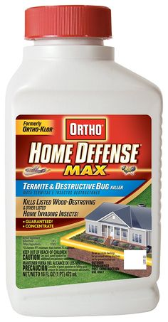 Ortho Home Defense MAX Termite and Destructive Bug Killer Concentrate, 16-Ounce (Not Sold in MA, NY, RI) *** Click image to review more details.