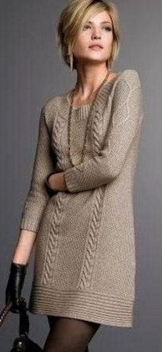 Women's Hand Knit Dress Women's Hand Knit Dress Women's hand knit tunic Always aspired to learn to knit, yet uncle.