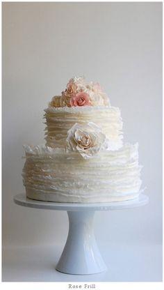 Lovely wedding cake! Love the ruffles....