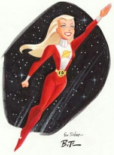 Saturn Girl by Bruce Timm
