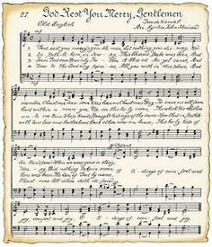 Downloadable vintage Christmas Song sheets for wrapping or crafts