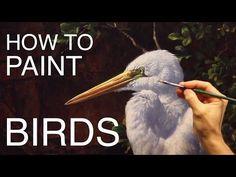 How To Paint Birds: EPISODE THREE - The Egret and Brahminy Kites - YouTube